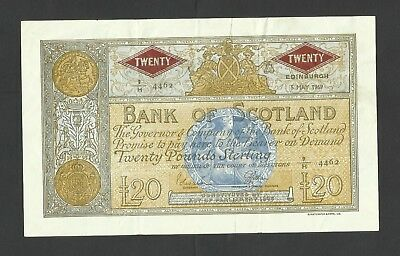 Bank Of Scotland   £20   1969  Emergency Printing  Issue  Rare  P110A