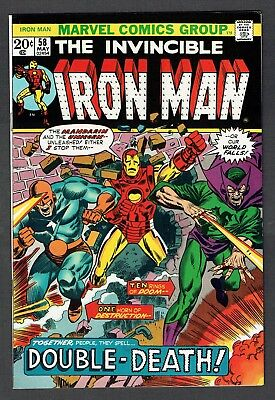 Invincible Iron Man #58 Vs. Mandarin & Unicorn Marvel Comics 1973 VF/NM Avengers