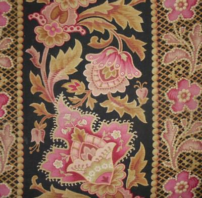 BEAUTIFUL ANTIQUE 19thc FRENCH COTTON INDIENNE, c1870s, EXOTIC DESIGN