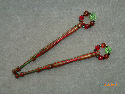 Lacemaking Lace Bobbins Pair Dymond Wood