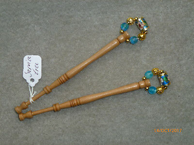 Lacemaking Lace Bobbins Pair Service Tree (Sycamore)