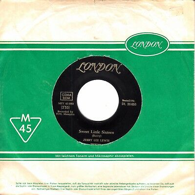 """7""""-  Jerry Lee Lewis =  Sweet Little Sixteen / How's My Ex Treating You"""