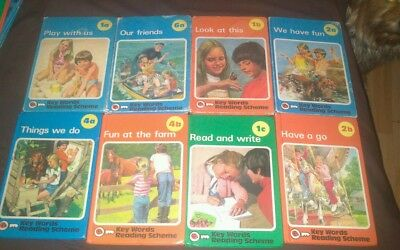 Vintage Ladybird books (8)  Key Words Reading Scheme.