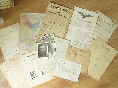 100% original WW2 and before German Civil Documents -- BDM wehrmacht
