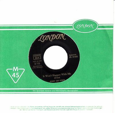 """7""""-  Jerry Lee Lewis =  It Won't Happen With Me / Cold Cold Heart"""
