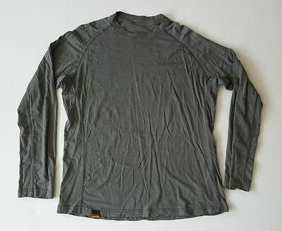 Simms Fishing Products Gray Long Sleeve  Pullover Base Layer Sz. 2XL Wool