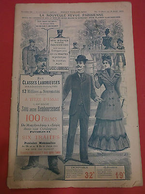 "Catalogue -Grands  Magasins - ""aux Classes Laborieuses "" - Paris - 1894 -"