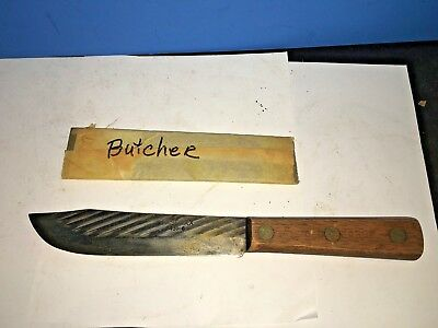 "Vintage 6"" Blade * CASE XX 431-6 * X-Small Carbon Steel Chef's Butcher Knife USA"