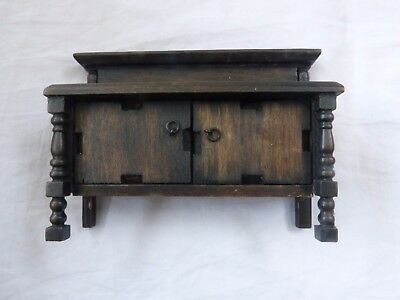 Dolls' House Miniatures - Vintage Elgin? Sideboard/cupboard