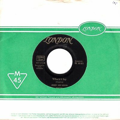 """7""""-  Jerry Lee Lewis =  What'd I Say / Livin' Lovin' Wreck"""