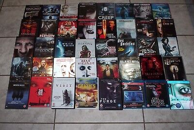 HORROR 37 DVD + 3 Blu Ray Bundle, Joblot, Collection, Some New / Sealed