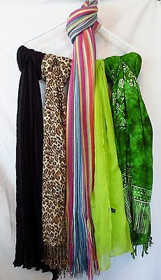 Lot of 5 Women's Scarves Wraps