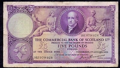 5 Pounds From Scotland 1953 Large Size