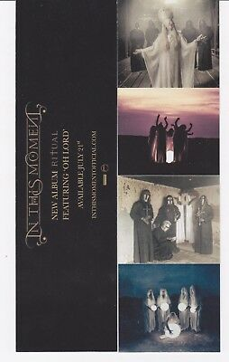 In This Moment BOOKMARK Ritual 2017 MINT Official Promo RARE Cheap!