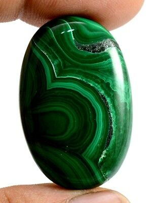 59ct Big Natural Rare Green Malachite Oval Cabochon Loose Gemstone on ebay