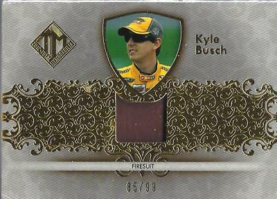 KYLE BUSCH - Race Used Firesuit - 2012 Total Memorabilia Swatch  Card #TM-KYB