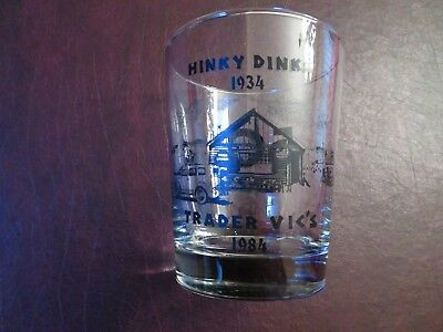 1934-1984 Hinky Dinks / TRADER VIC's 50th anniversary souvenir GLASS