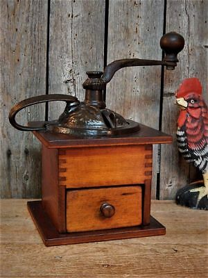 Stunning Antique Primitive Coffee Grinder Early 1900's Works! Farmhouse Kitchen