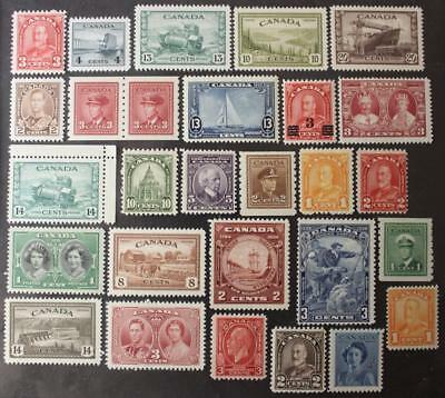 Canada MNH OG Collection, 1930's-1940's Era, All Different & Never Hinged