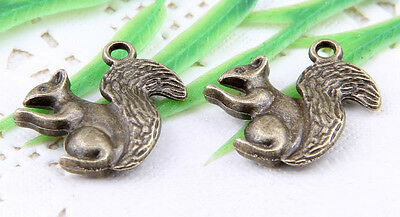 Free Ship 15Pcs Bronze Plated (Lead-Free)squirrel Charms Pendants 21x17mm