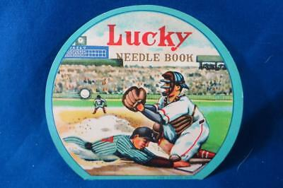 Vintage Lucky Needle Book Baseball  Made in Occupied Japan