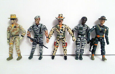 Vtg Lanard Military Army Action Figure Set Lot of 5