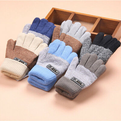 Fashion Cute Thicken Hot Infant Baby Girls Boys Knitting Wool Winter Warm Gloves