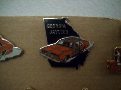 """Very Rare Dukes Of Hazzard """"general Lee"""" 1969 Dodge Charger Georgia Jaycees Pin!"""