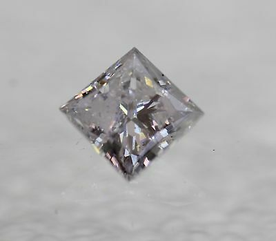 Certified 0.51 Carat D SI2 Princess Enhanced Natural Diamond 4.52X4.46mm 2VG