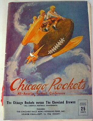 1946 Aafc Football Program, The Chicago Rockets Vs The Cleveland Browns