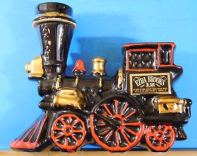 Ezra Brooks Heritage Whiskey Locomotive Decanter No Date EMPTY