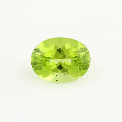 1.88ct lose Peridot Edelstein - oval grün Original facettiert 9.05mm x 6.95mm
