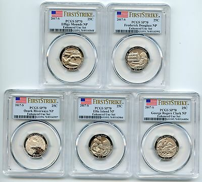 2017 S Enhanced Uncirculated Complete Set 10 coins PCGS SP70 First Strike