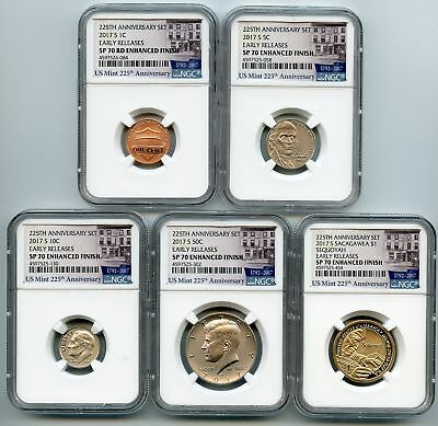 2017 S Enhanced Uncirculated Complete Set 10 coins NGC SP70 Early Releases