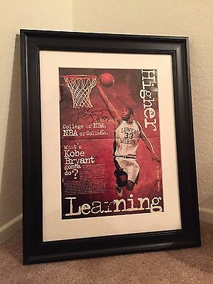 1996 Signed Lakers Kobe Bryant 1St Slam  High School Autograph 24X30 Pre Rookie