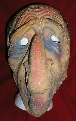 1950 BIG NOSED OLD MAN Rubber Halloween Mask - BAYSHORE