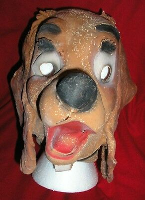 1950s Disney LADY & THE TRAMP Rubber Halloween Mask - Plus Muslin LADY mask