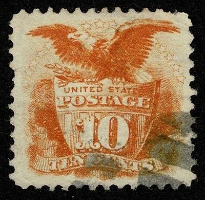 Scott#116 10c Pictorial Eagle and Shield 1869 Used Well Centered