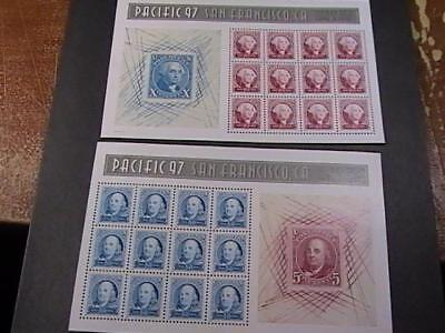 U.s. # 3139 & 3140--Mint Never/hinged--- Souvenir Sheets------1997