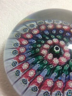 Old English Concentric Millefiori Glass Paperweight Arculus / Walsh Walsh ?