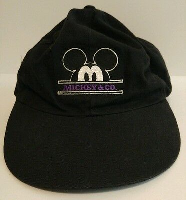MICKEY MOUSE Mickey & Co. HAT Black WHITE Purple MOUSE EARS Disney LEATHER Cap