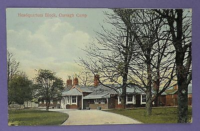 Headquarters Block, Curragh Military Camp Postmarked Curragh Camp 1915 - WW1 Int
