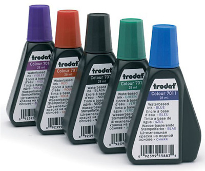 5 color water based Re-fill Ink for self inking Ideal/Trodat Stamps & stamp pads