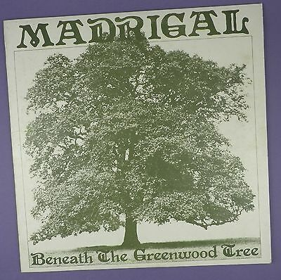 Madrigal - Beneath The Greenwood Tree - Rare Folk Vinyl LP 1973