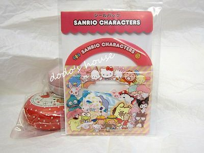Sanrio Japan Hello Kitty Mix Character Stationery Sticker Set Pack 50pcs