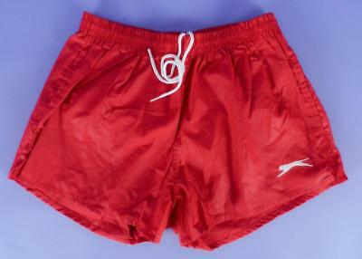 Original Vintage Stock, Slazenger Red Poly Cotton Swim Shorts, Small - ms32