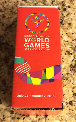 Scarce 2015 Coca-Cola Special Olympics World Games Los Angeles Bottle with Box