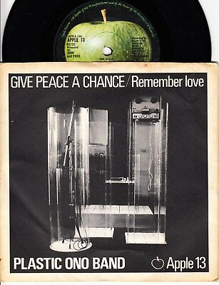 Plastic Ono Band *give Peace A Chance* 1969 Uk Apple Solid Centre  Beatles