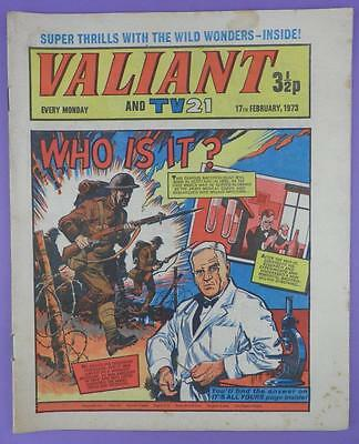 Valliant And TV21 Comic 17th February 1973, Alexander Fleming On Cover
