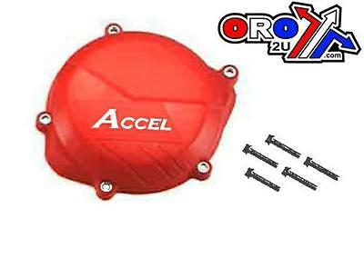 Accel Red Clutch Cover Protection Protector Guard Fits Honda Crf450'r 2009-2015